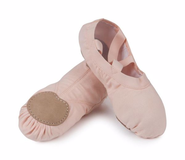 Picture of Elasticated Spilt Sole Ballet Shoe Junior